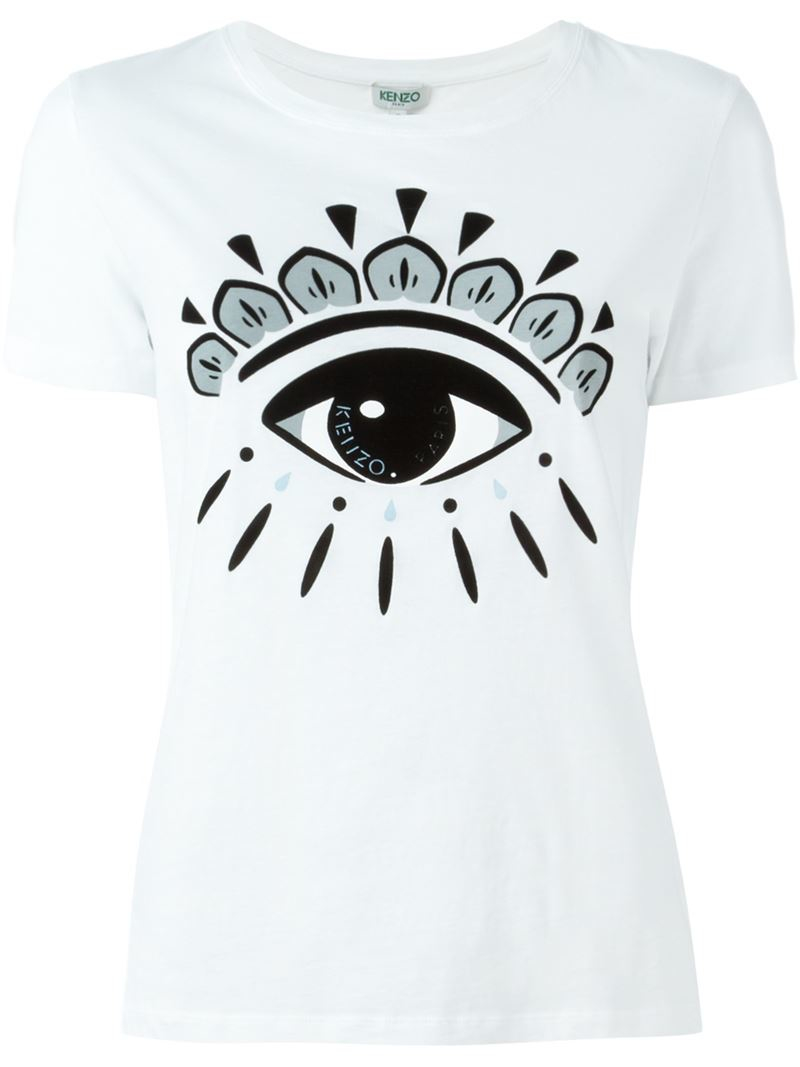 kenzo 39 eye 39 t shirt in white lyst. Black Bedroom Furniture Sets. Home Design Ideas