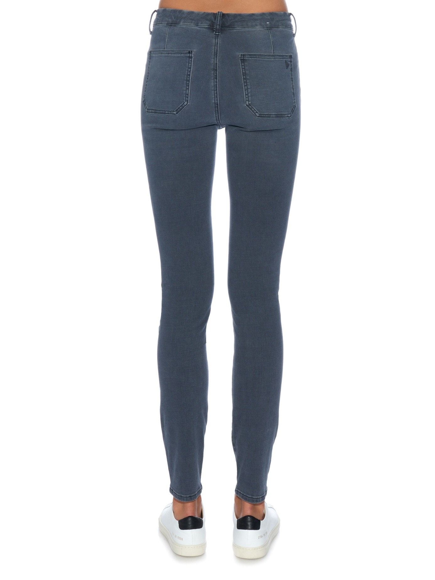 Bodycon High-rise Skinny Jeans - Black Mih Jeans