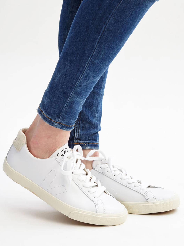 Veja White Leather Esplar Sneakers In White For Men Lyst