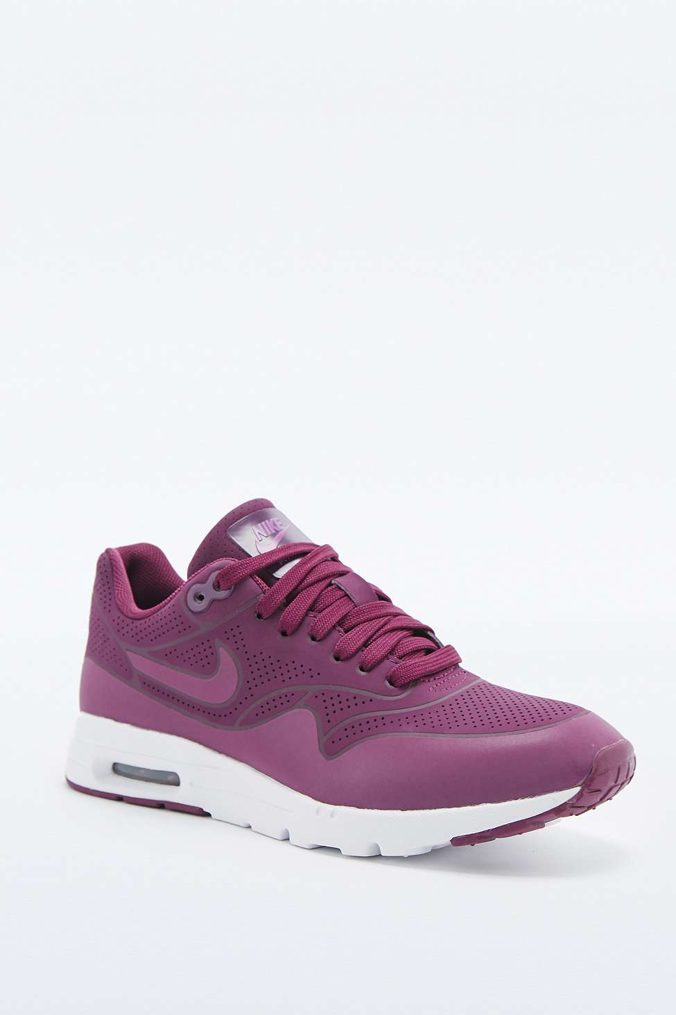 new product aa7a6 3047d Nike Air Max 1 Ultra Moire Burgundy Trainers in Purple - Lyst