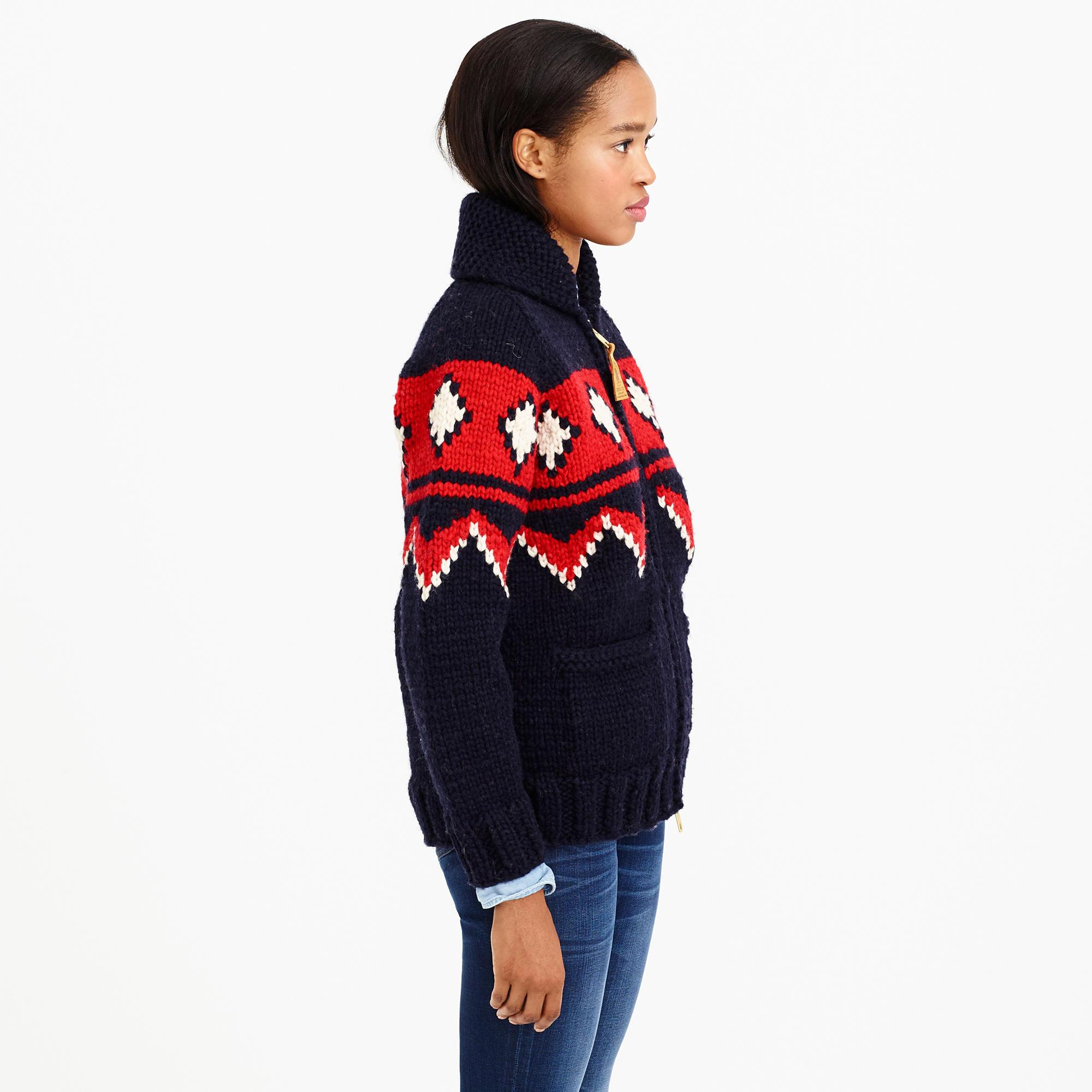 J Crew Canadian Sweater Company Traditional Zip Cardigan