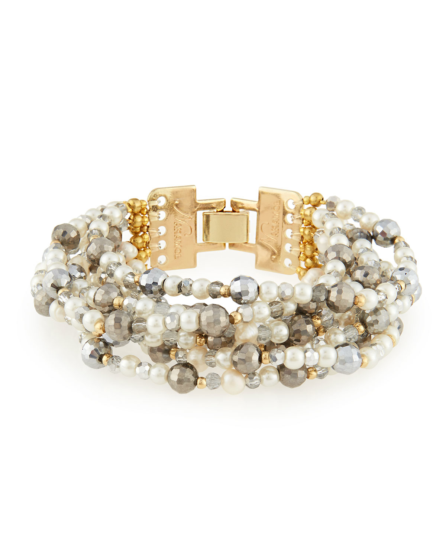 Nakamol Multi-Strand & Mixed Crystal Beaded Bracelet KBSF3