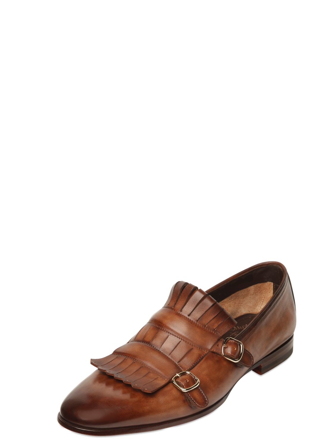 santoniFringed buckle loafers eaqPB