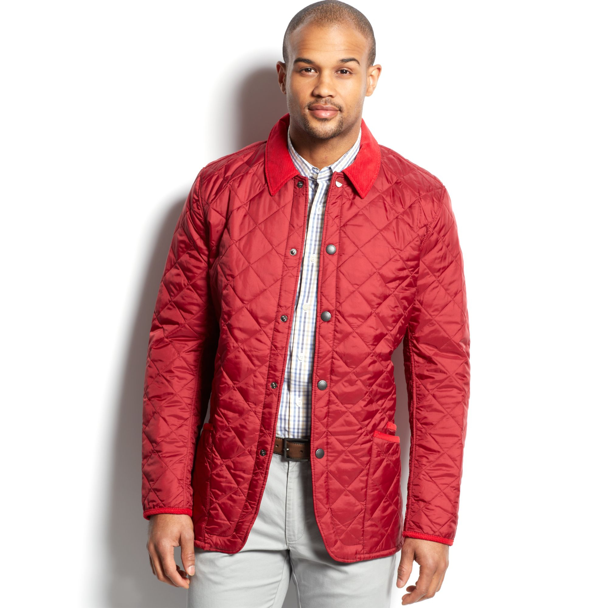 Barbour Chip Pantone Quilted Jacket in Red for Men | Lyst : red quilted jacket mens - Adamdwight.com