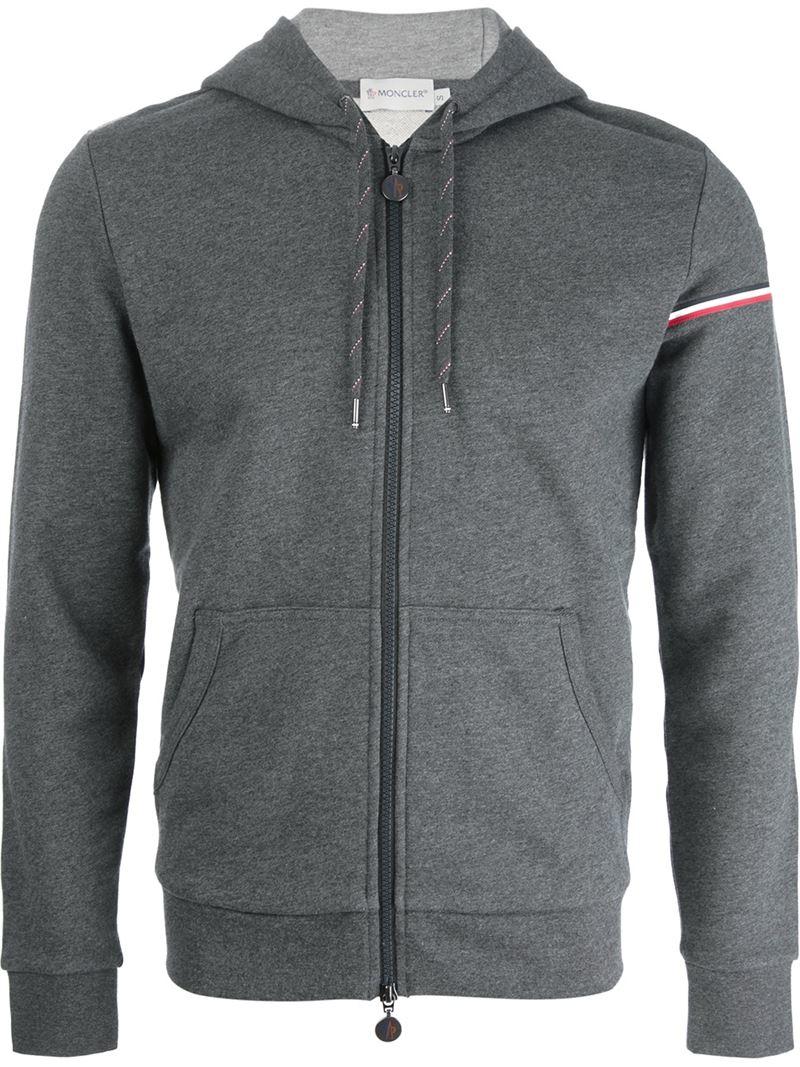 mens moncler grey hoodie