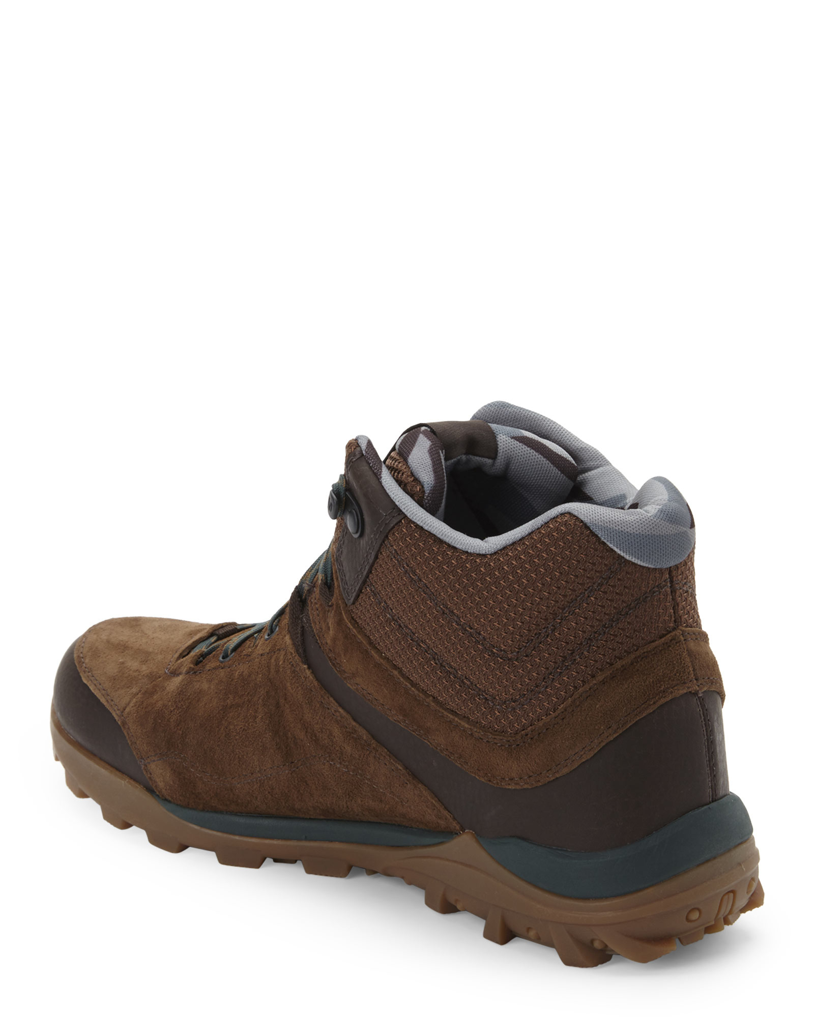 merrell brown green fraxion mid waterproof boots in