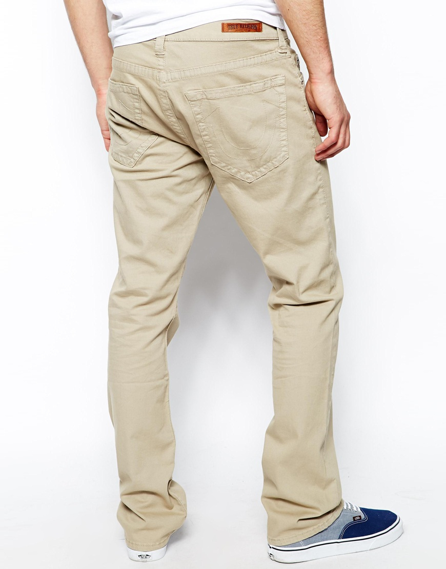5e541b56d True Religion 5 Pocket Pants Bobby Straight Fit Overdye Stretch Twill in  Natural for Men - Lyst