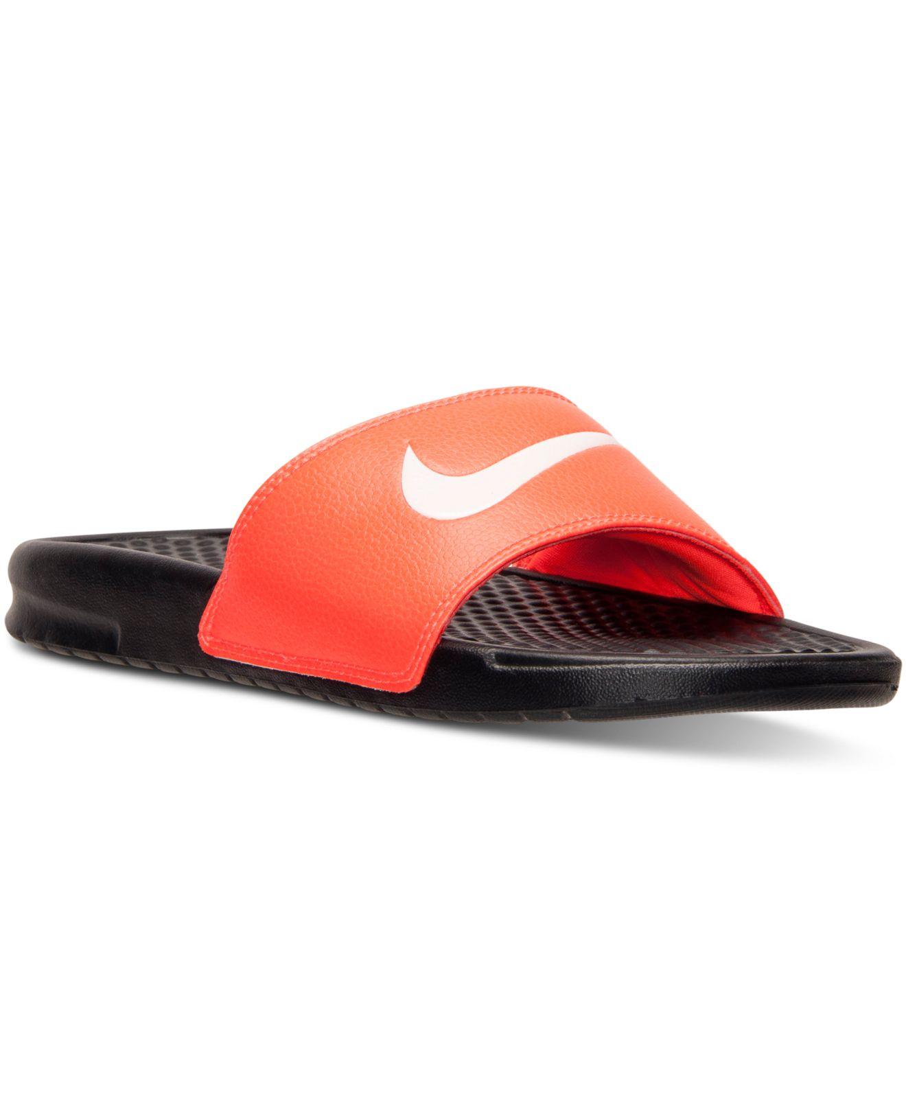 e728f5b00162 ... sale lyst nike mens benassi swoosh slide sandals from finish line in  ac3ab 38bbb
