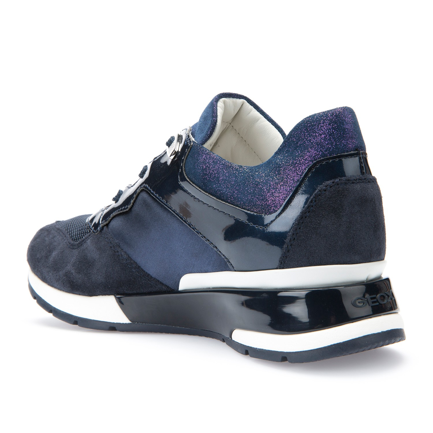 2ad17d09660c Geox Shahira Lace Up Trainers in Blue - Lyst