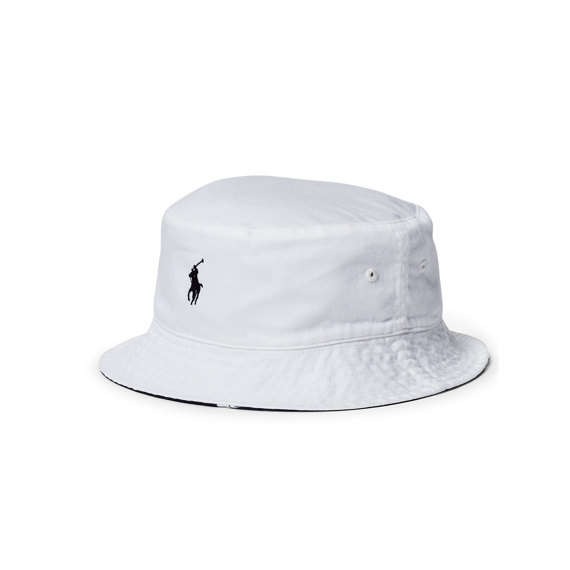 ca4a62e5 Polo Ralph Lauren Reversible Twill Bucket Hat in White for Men - Lyst