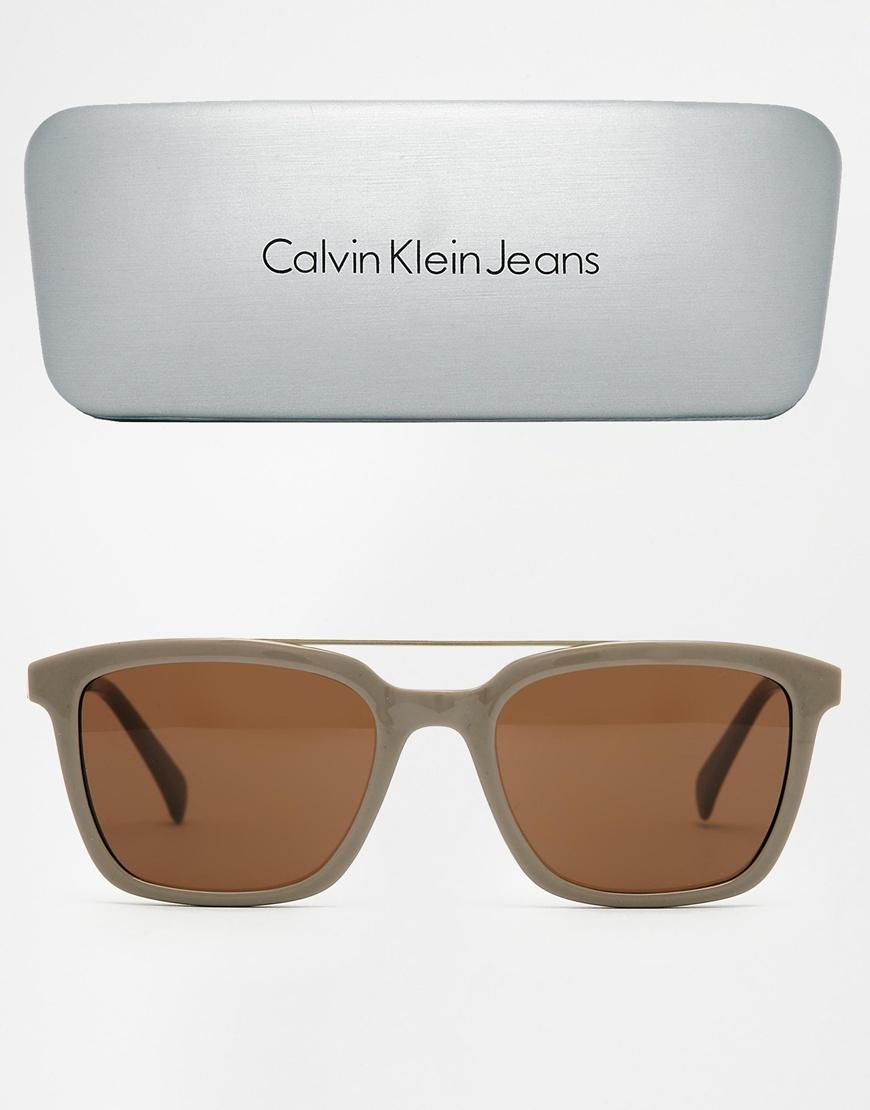f520d3516343 Lyst - Calvin Klein Ck Jeans Wayfarer Sunglasses in Gray for Men