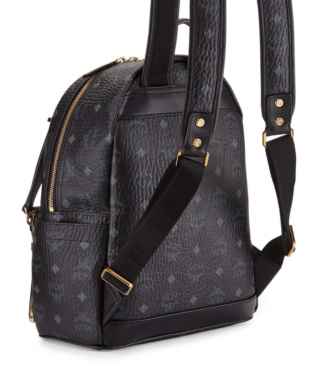 Dual Stark Medium Backpack in Black Visetos MCM qlV1H2