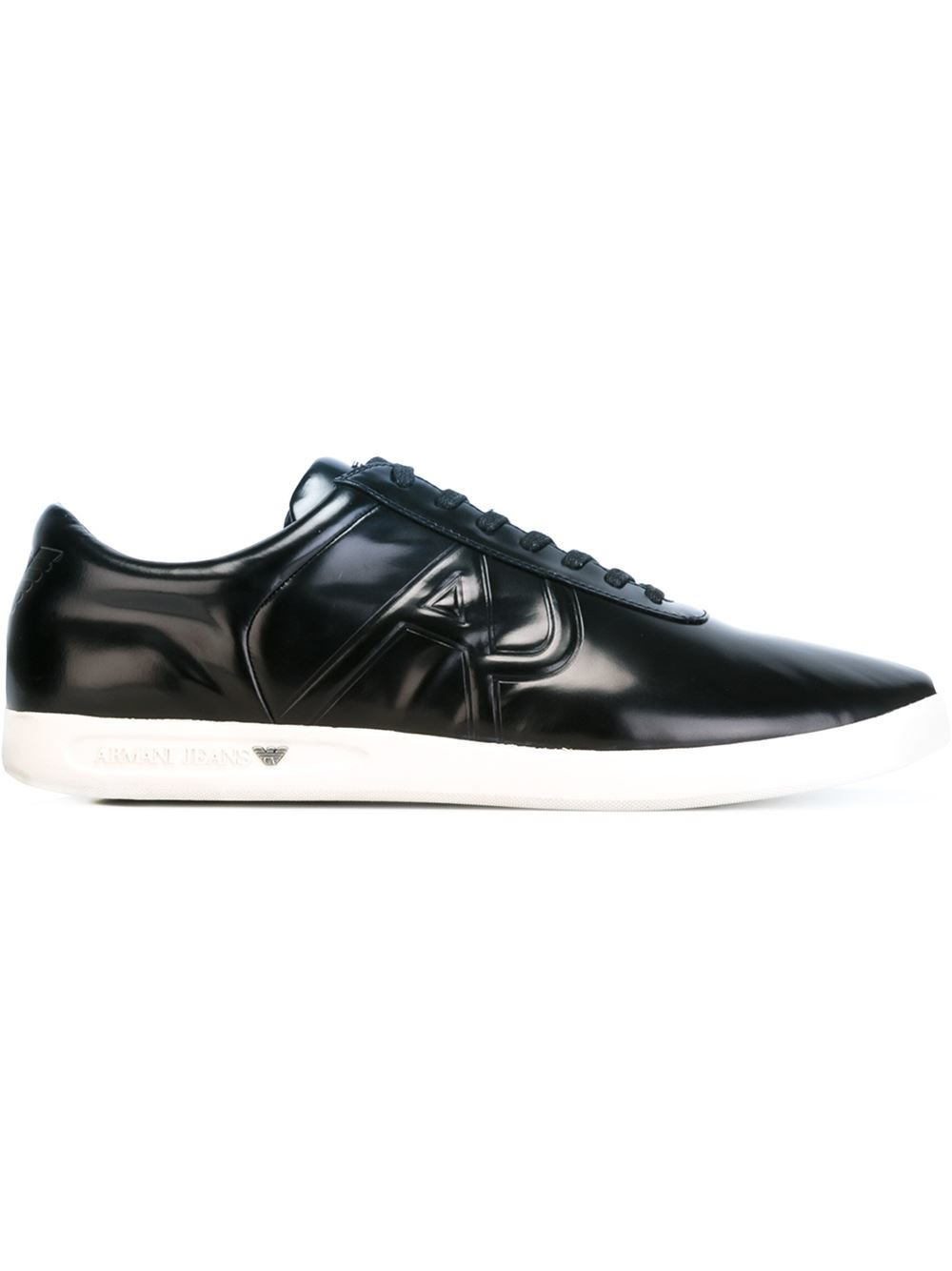 Armani Patent Leather Shoes   Black Mens