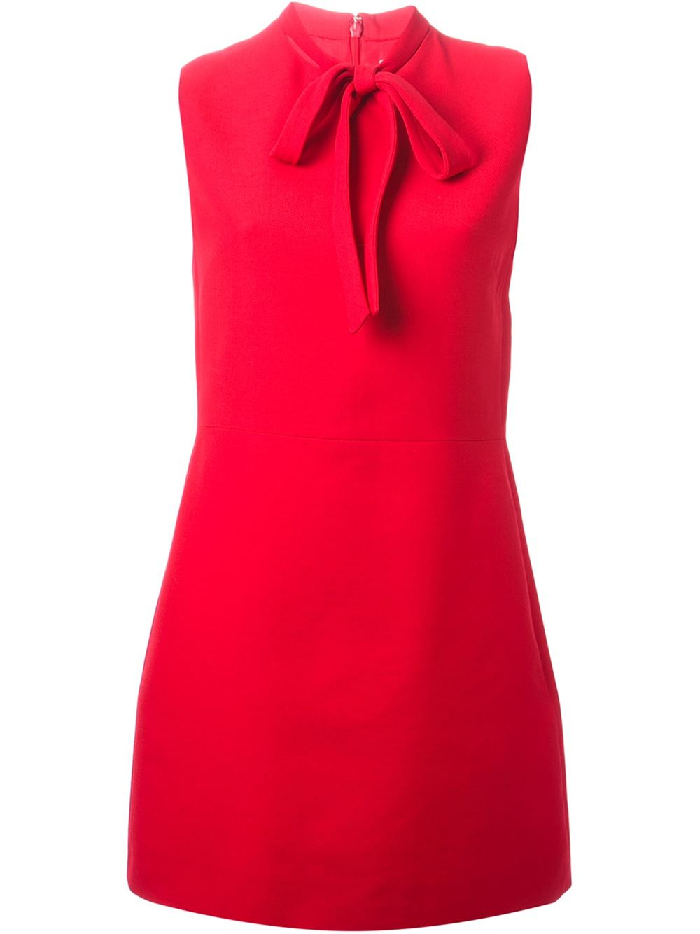 lyst valentino bow collar dress in red