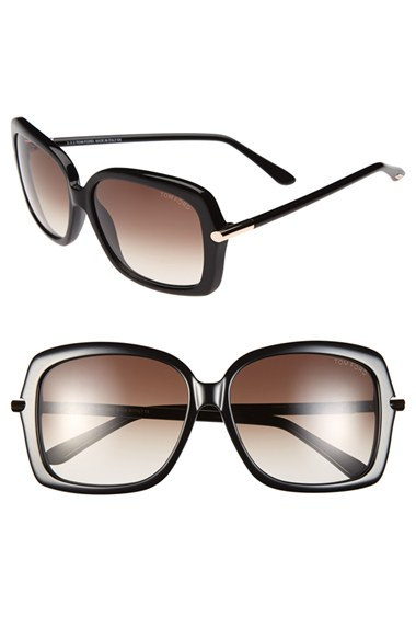 a721177580d3b Lyst - Tom Ford  paloma  59mm Sunglasses - Shiny Black  Rose Gold in ...