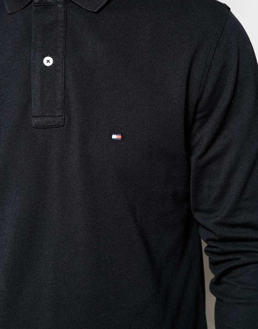 44c5fb9f Tommy Hilfiger Long Sleeve Polo With Contrast Under Collar Regular ...