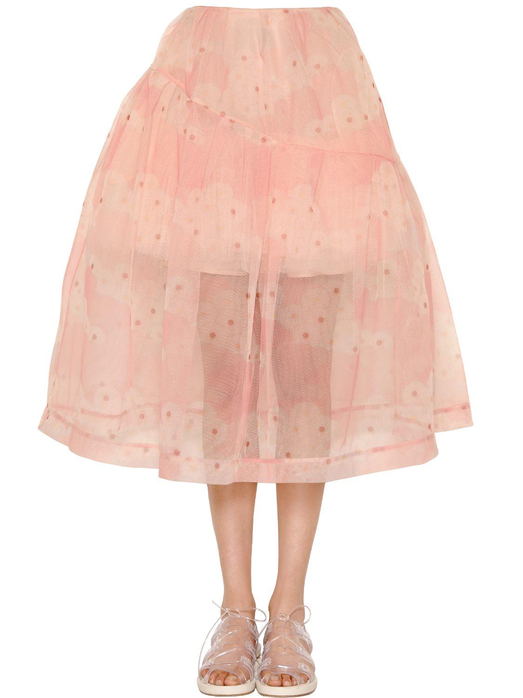 flower tulle skirt