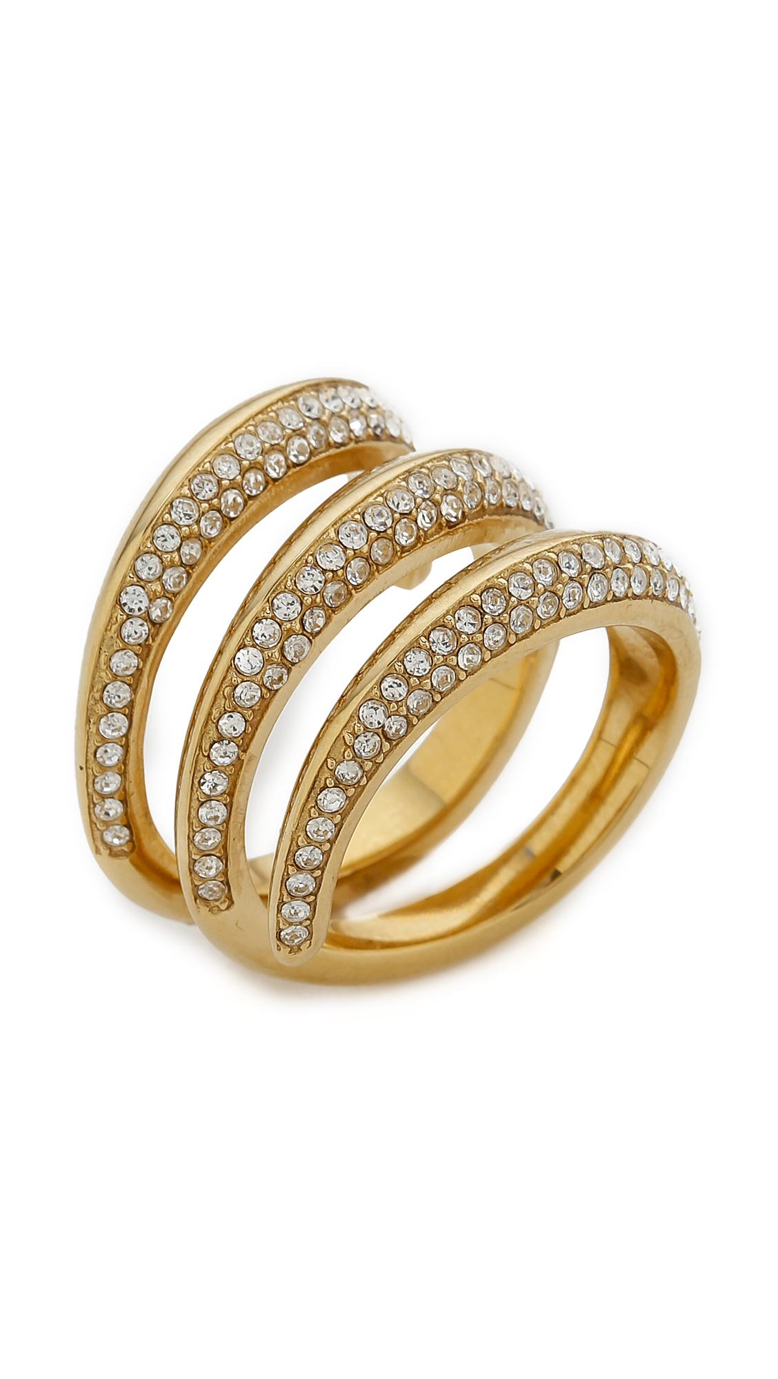 michael kors statement ring gold clear in gold gold