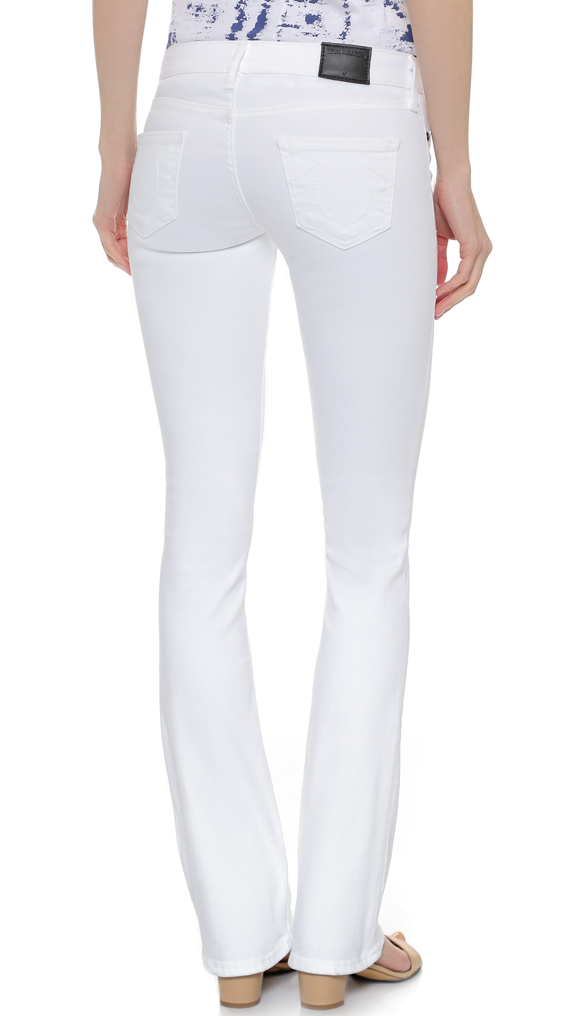 True religion Becca Mid Rise Boot Cut Jeans - Optic White in White ...
