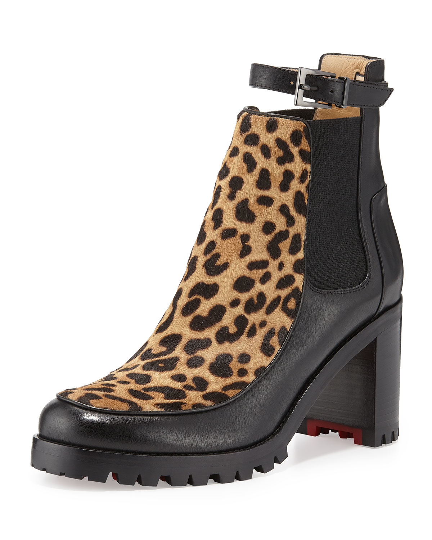 Christian Louboutin Yetata Calf Hair Chelsea Boots Lyst