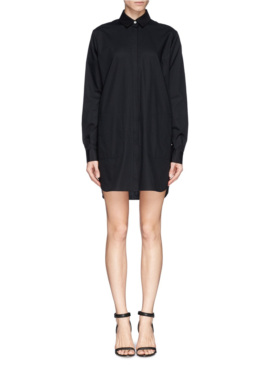 by alexander wang long sleeve panel stripe knit pullover for