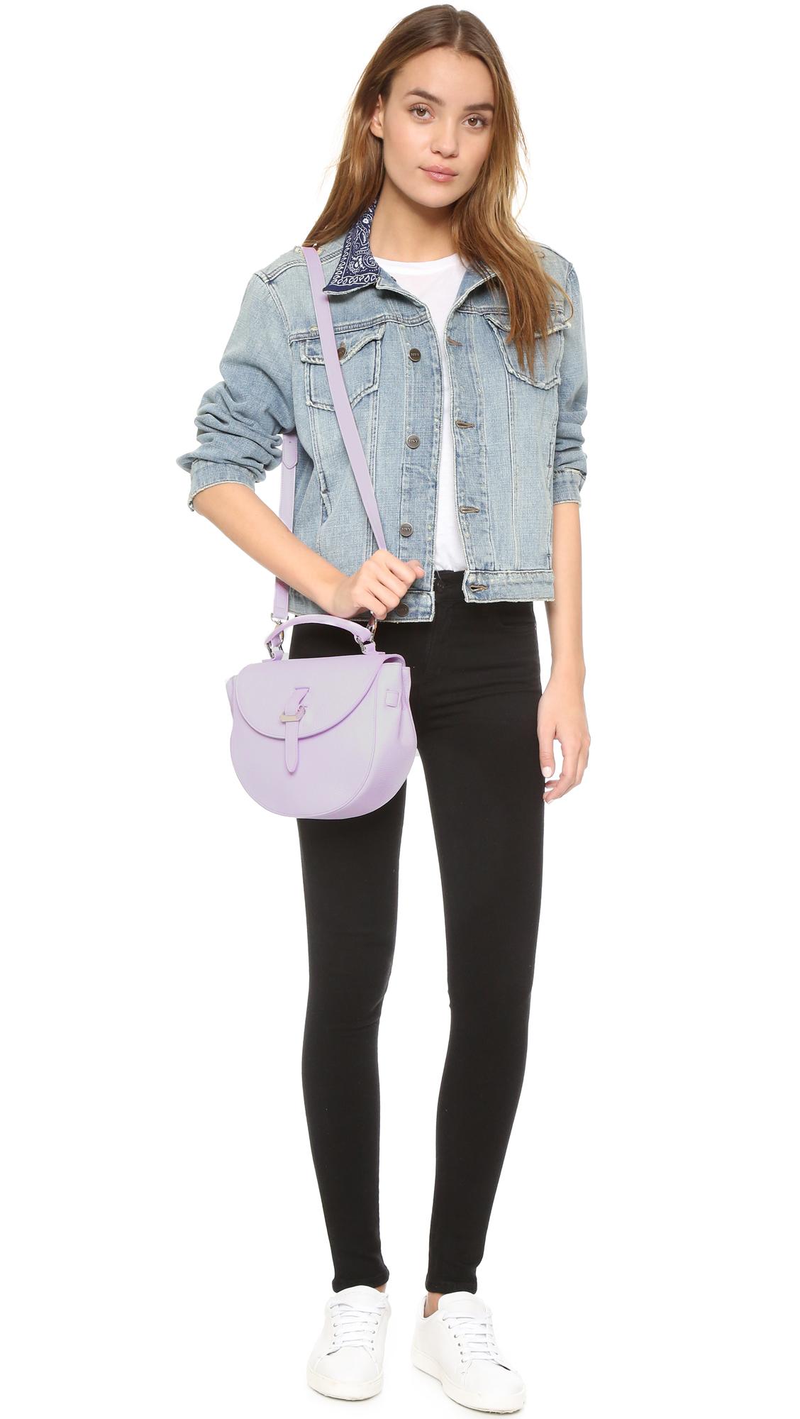 meli melo ortensia saddle bag in purple lyst. Black Bedroom Furniture Sets. Home Design Ideas