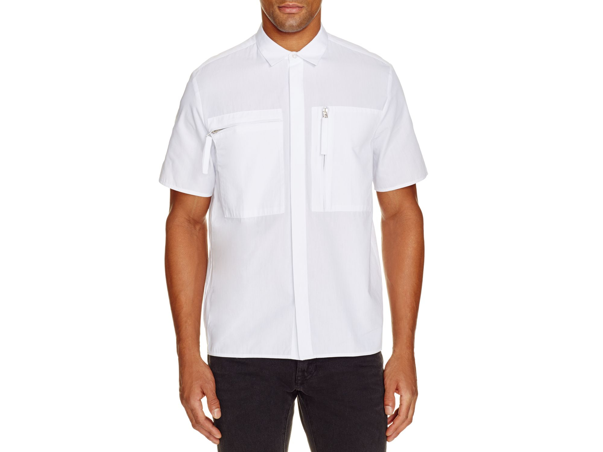 Blood Brother Zip Pocket Shirt In White For Men Lyst