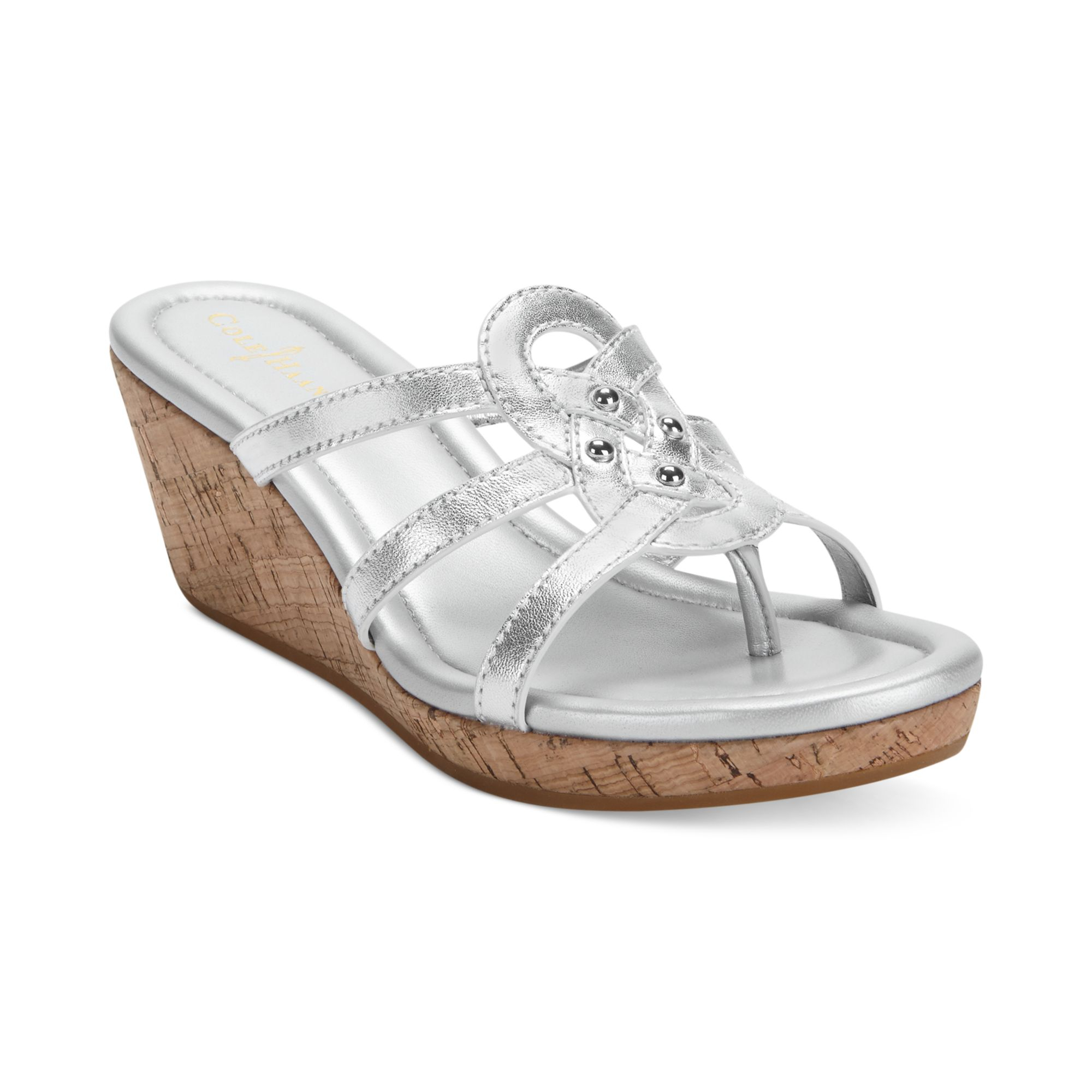 Unique Cole Haan Womens Taylor Wedge Sandals In Black  Lyst