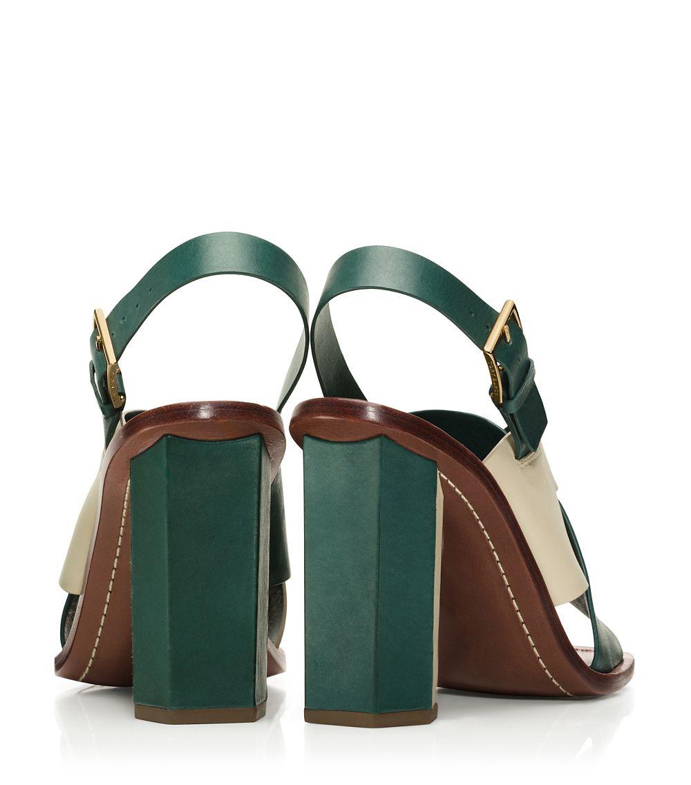 048e6dcc5aef Lyst - Tory Burch Bleecker Slingback Sandal in Green