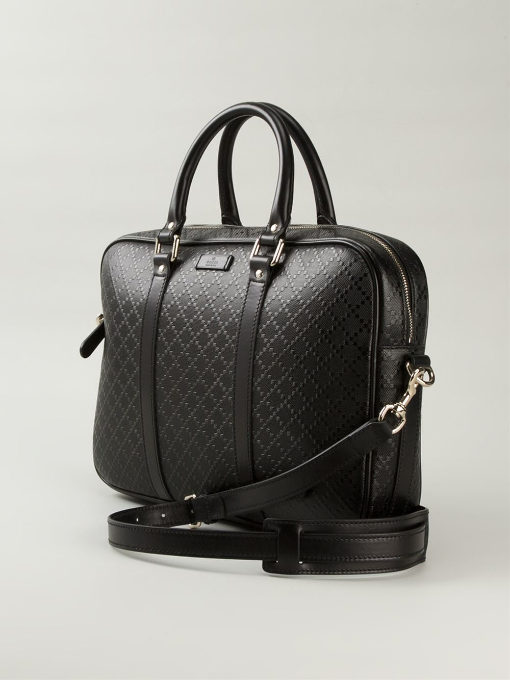 Gucci Bright Diamante Laptop Bag In Black For Men Lyst