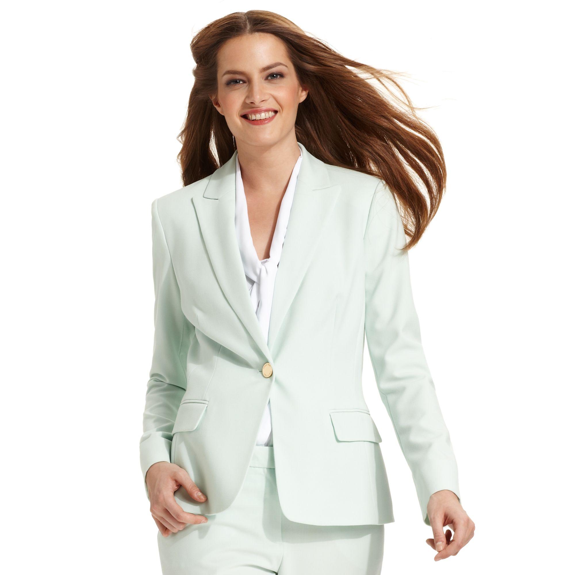 ab4e0c11fbd Lyst - Calvin Klein Singlebutton Mint Blazer in Green