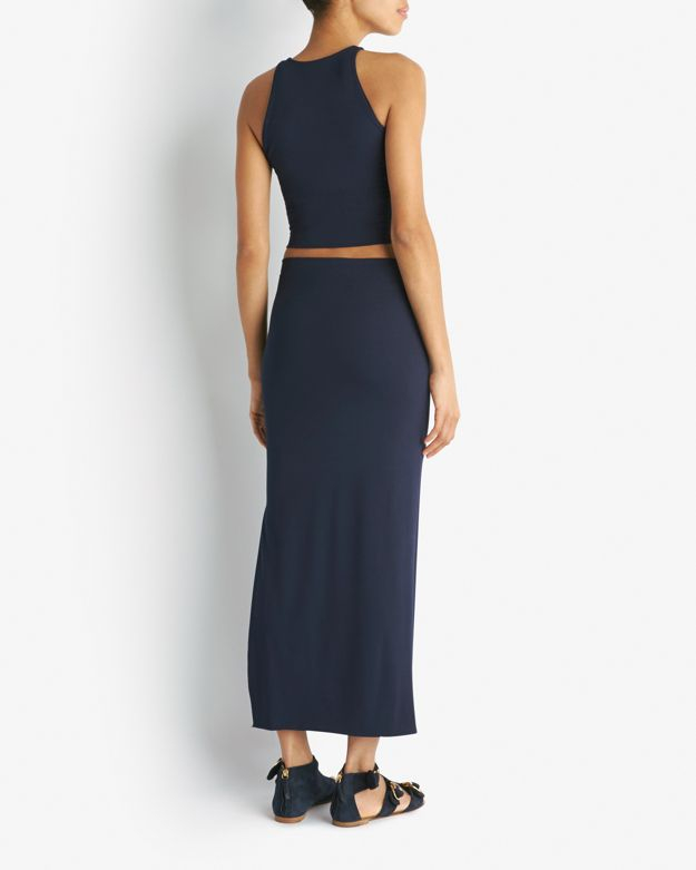 tarr exclusive maxi pencil skirt in blue lyst