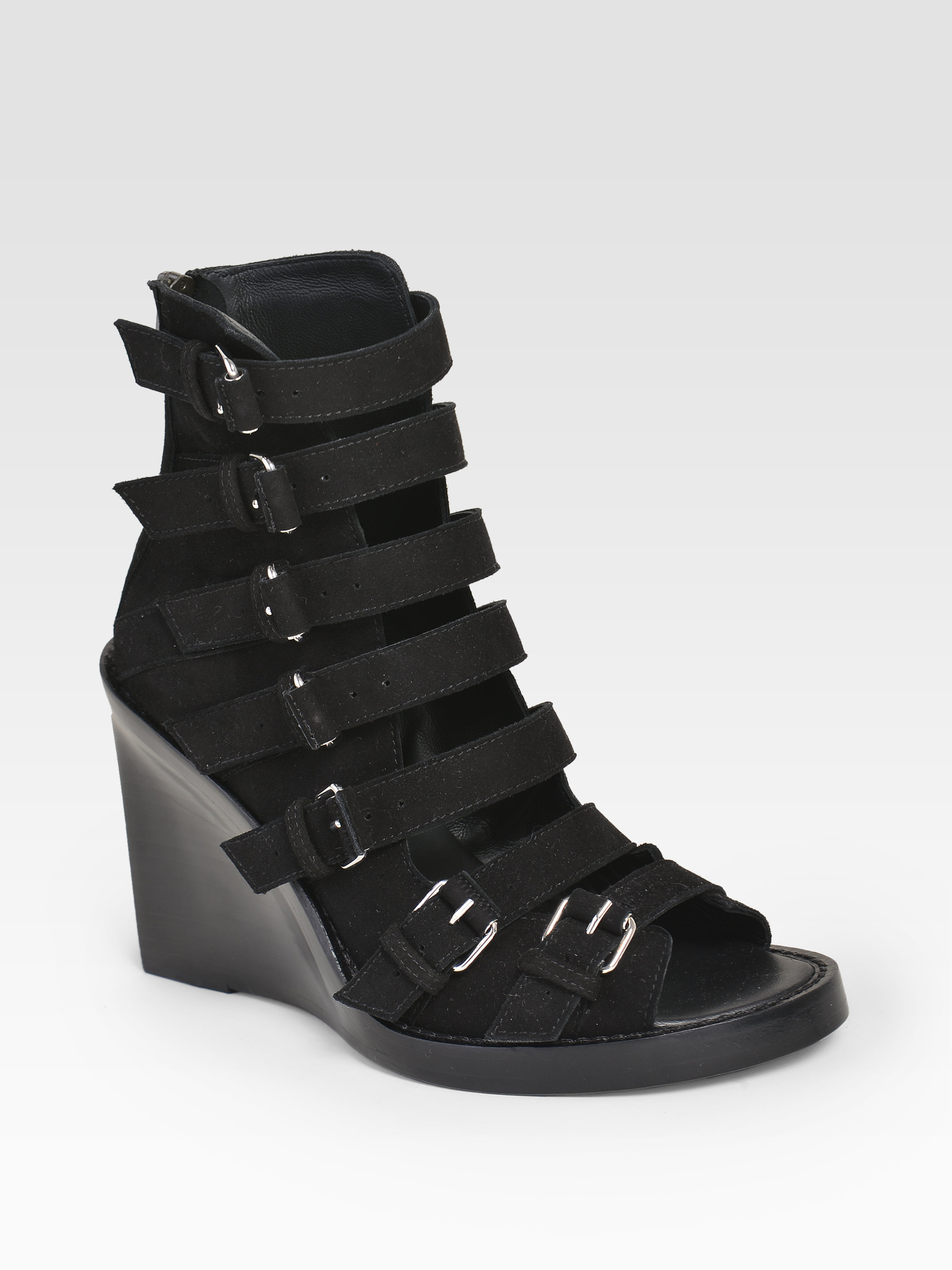 Free Shipping 2018 New ANN DEMEULEMEESTER 55MM LEATHER WEDGES Buy Cheap Best Wholesale 9p4t7h