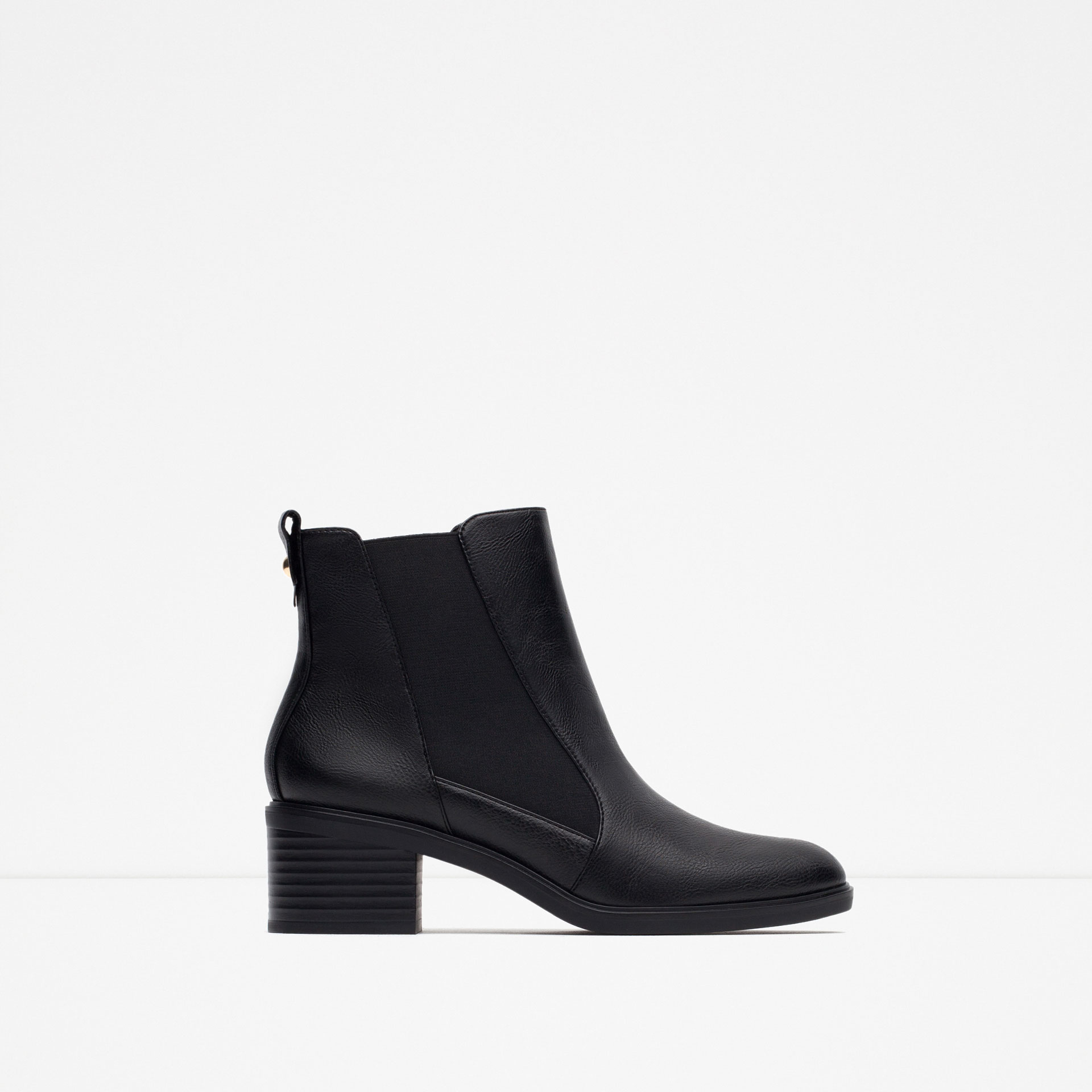 Zara Elasticated High Heel Ankle Boots in Black | Lyst