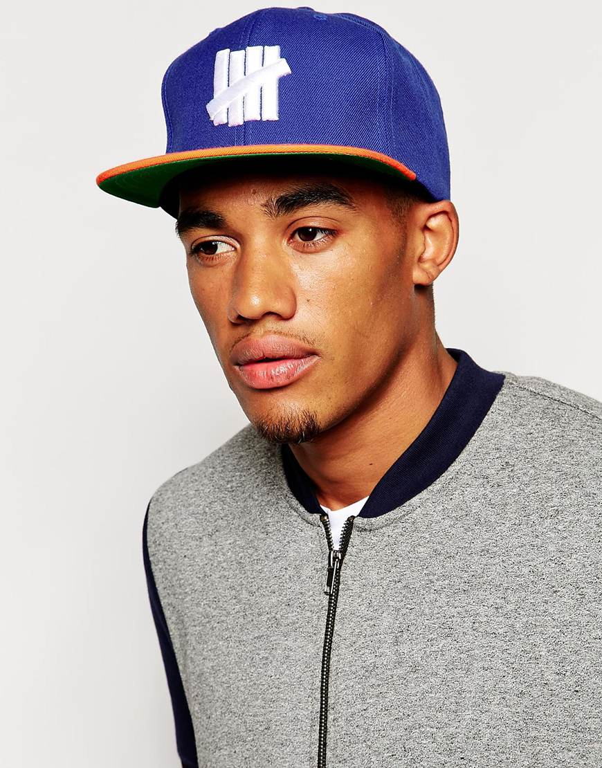 8bde3e69546 Lyst - Undefeated 5 Strike Snapback Cap in Blue for Men