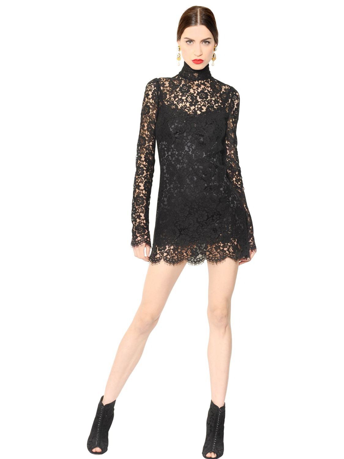 Lyst Dolce Amp Gabbana Cordonetto Lace Dress With