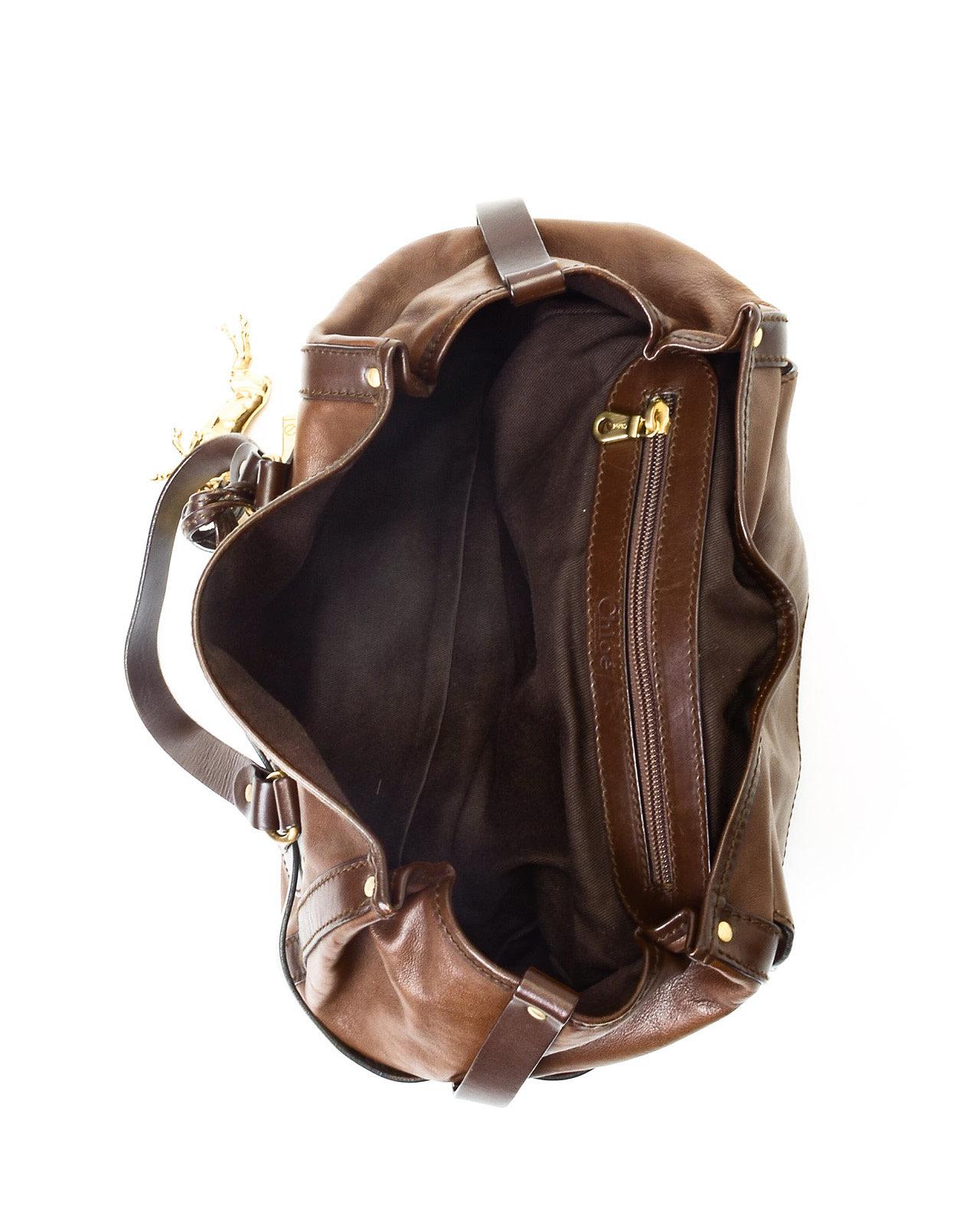 Chlo¨¦ Chlo?\u2030 Brown Leather Handbag in Brown | Lyst