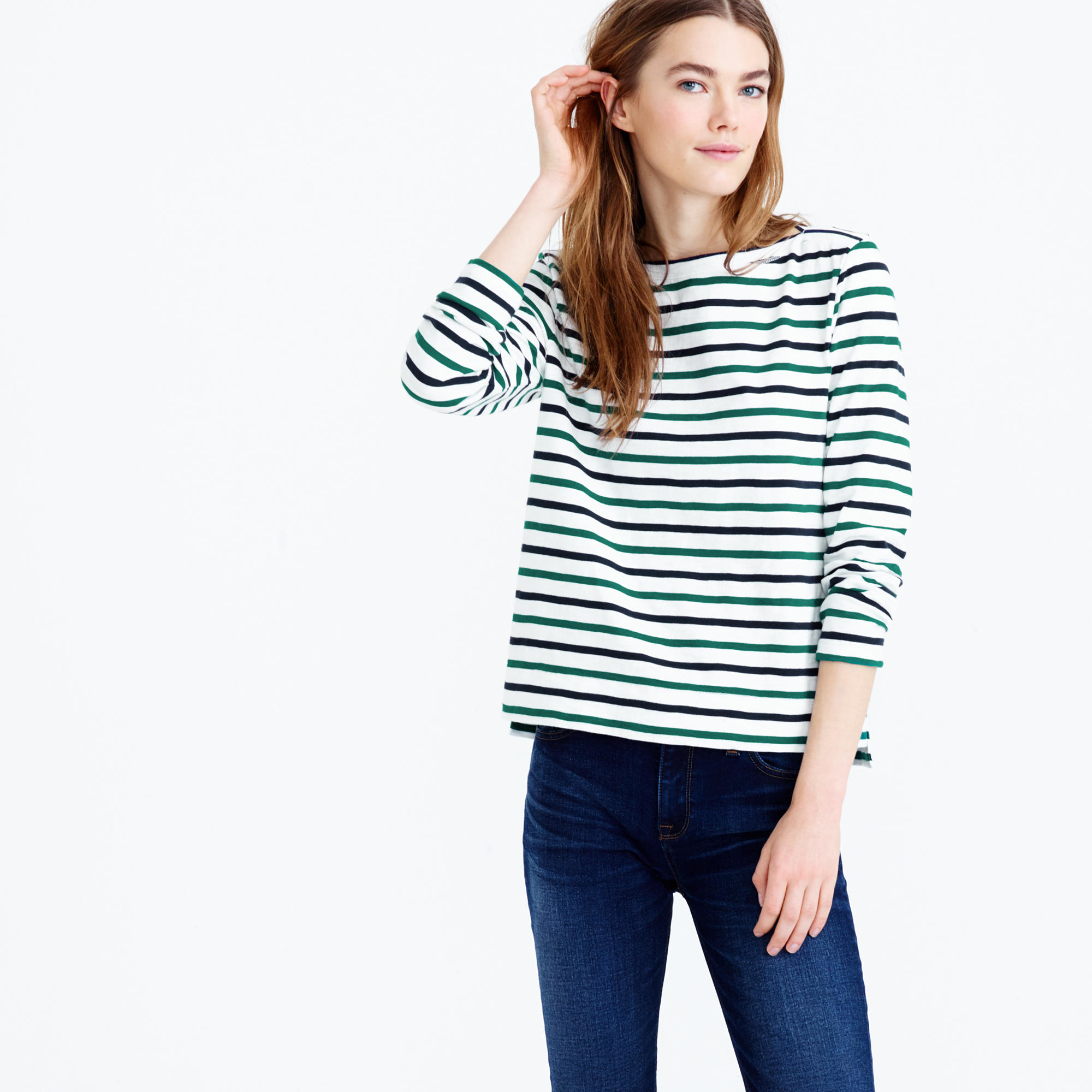 Lyst Jew Midweight Colorful Striped Boatneck T Shirt In White
