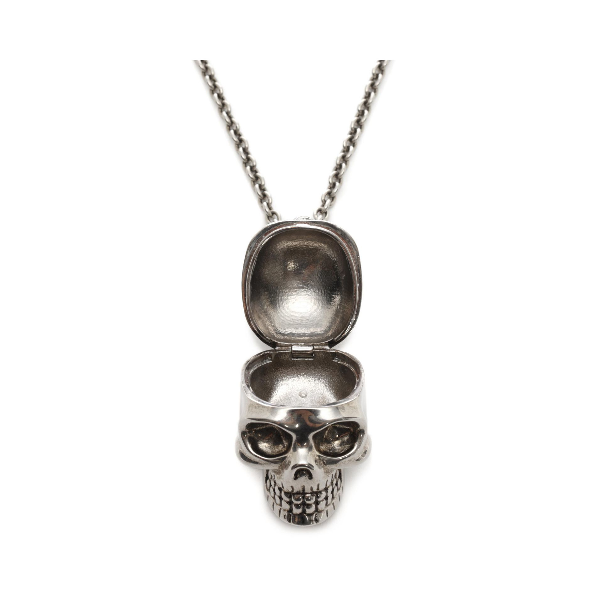 Lyst Alexander Mcqueen Doctor Skull Necklace in Black for Men