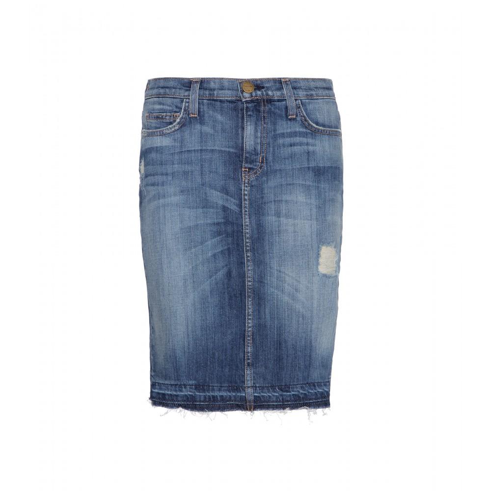 current elliott the stiletto pencil denim skirt in blue lyst