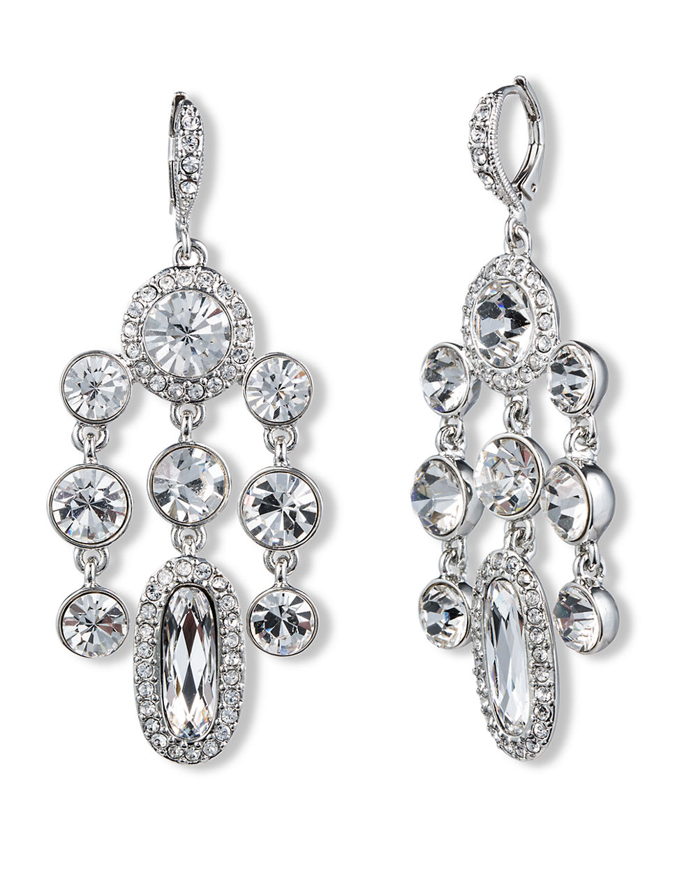 givenchy cluster chandelier earrings in metallic