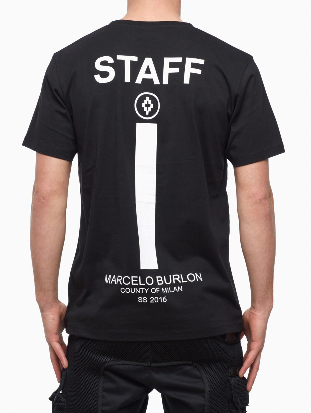 Lyst Marcelo Burlon Staff T Shirt In Black For Men