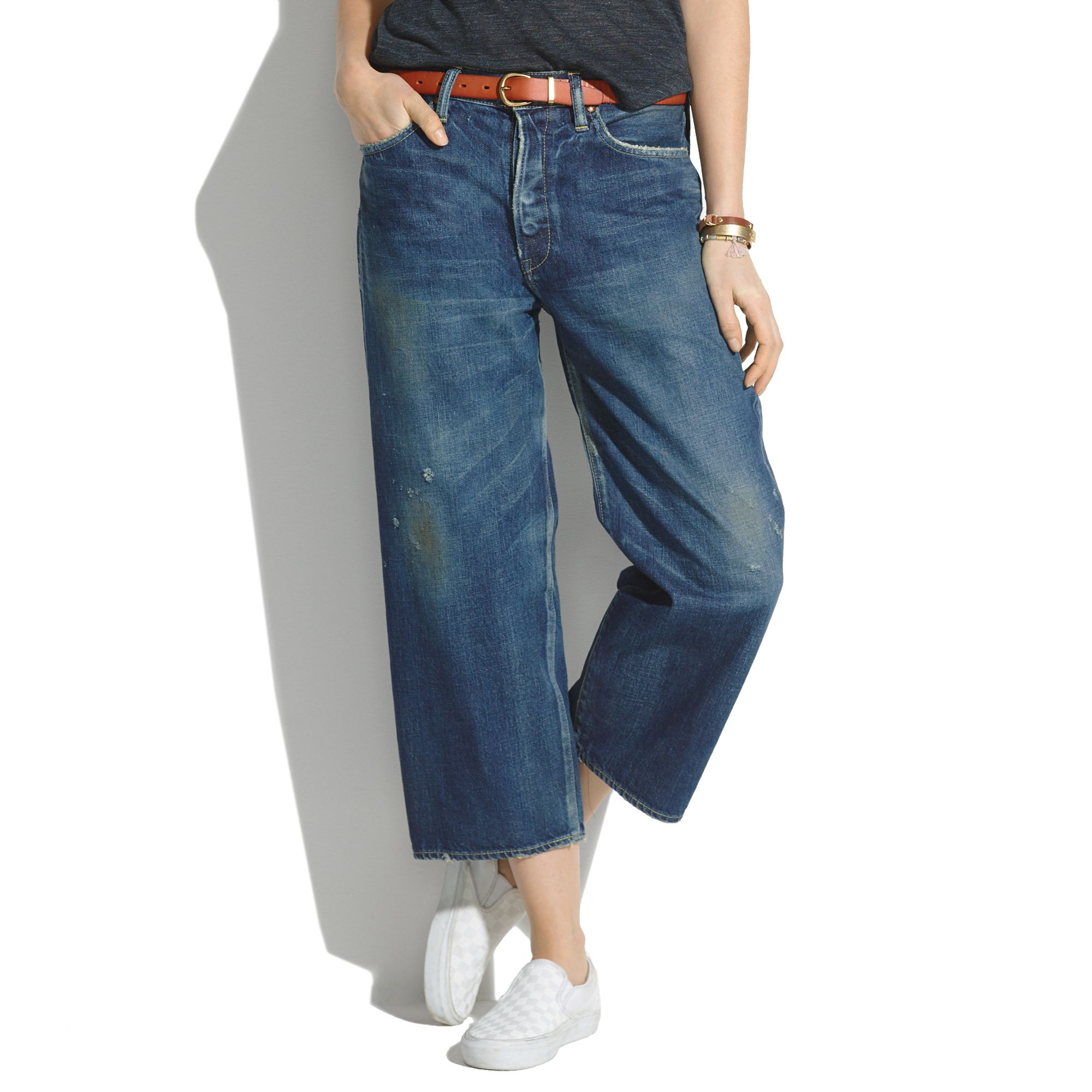 madewell chimala selvedge baggy jeans in blue lyst. Black Bedroom Furniture Sets. Home Design Ideas