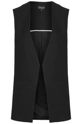 748f8afa99be98 Lyst - TOPSHOP Tailored Sleeveless Jacket in Black