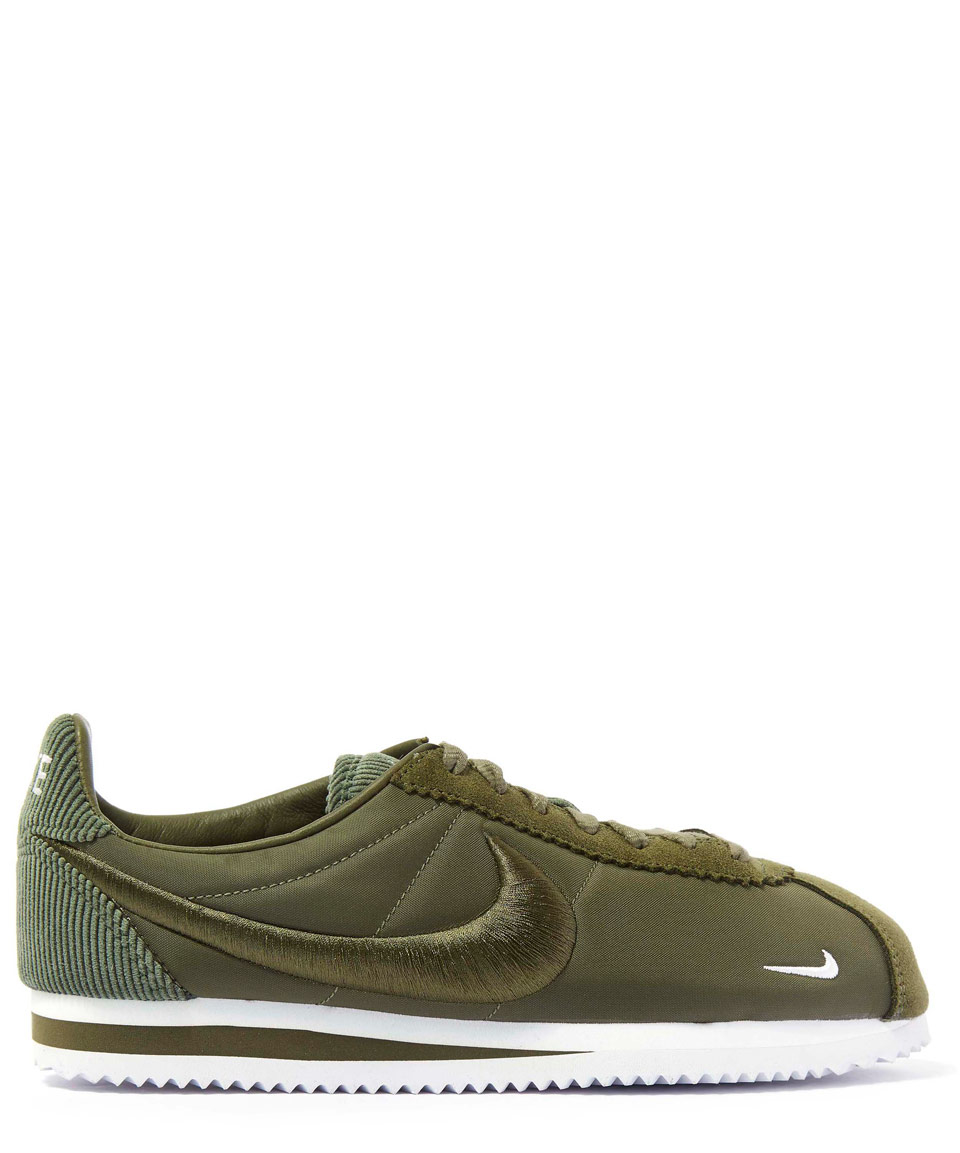 5656d8891f Nike Olive Classic Cortez Trainers in Green - Lyst