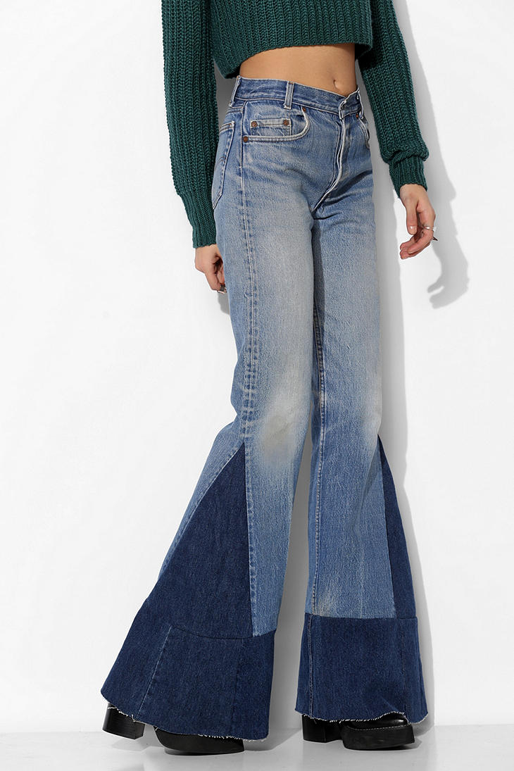 Urban outfitters Urban Renewal Remade Levis Flare Jean in Blue | Lyst