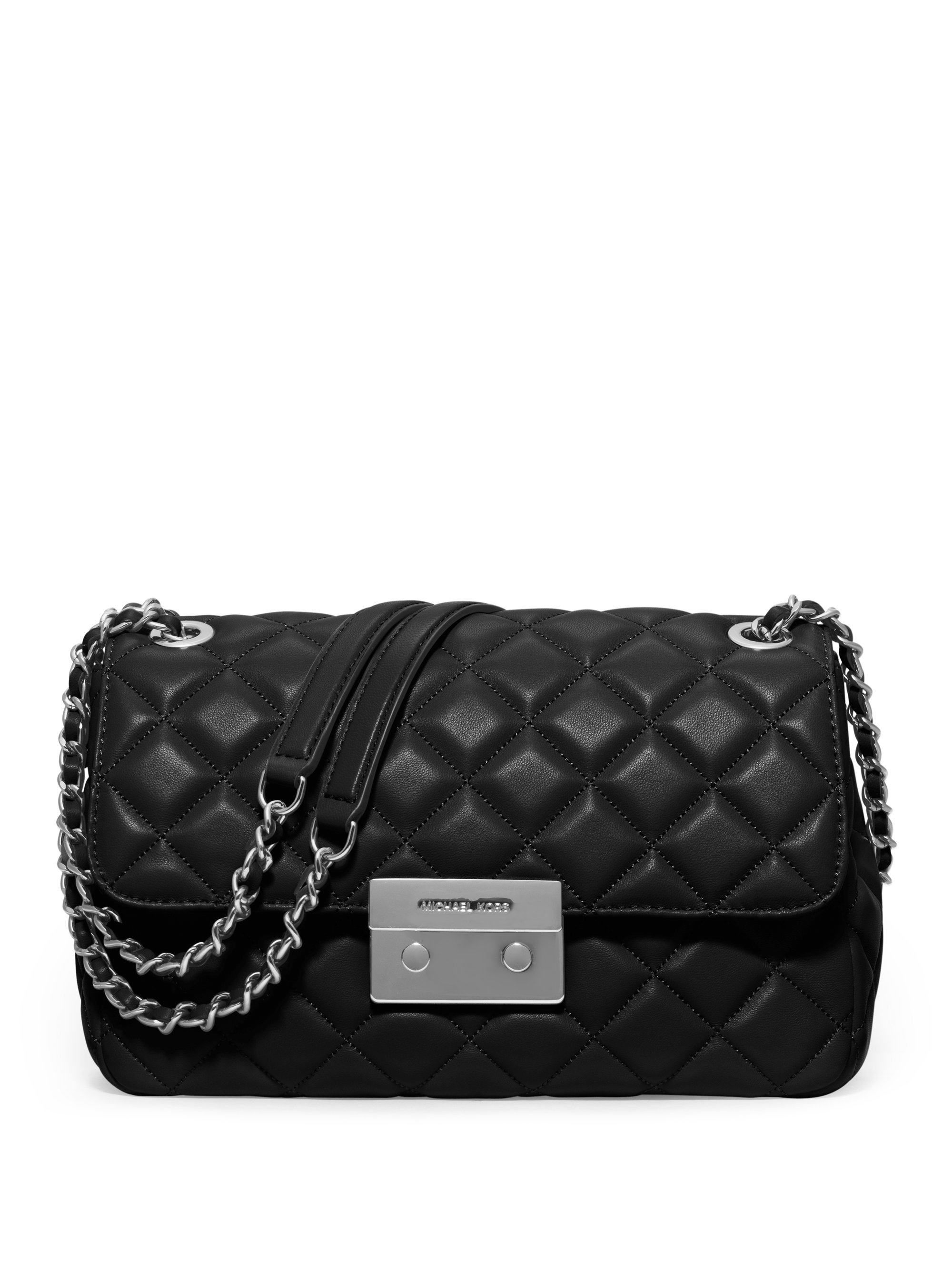 Michael michael kors Sloan Large Quilted Leather Chain Shoulder ...