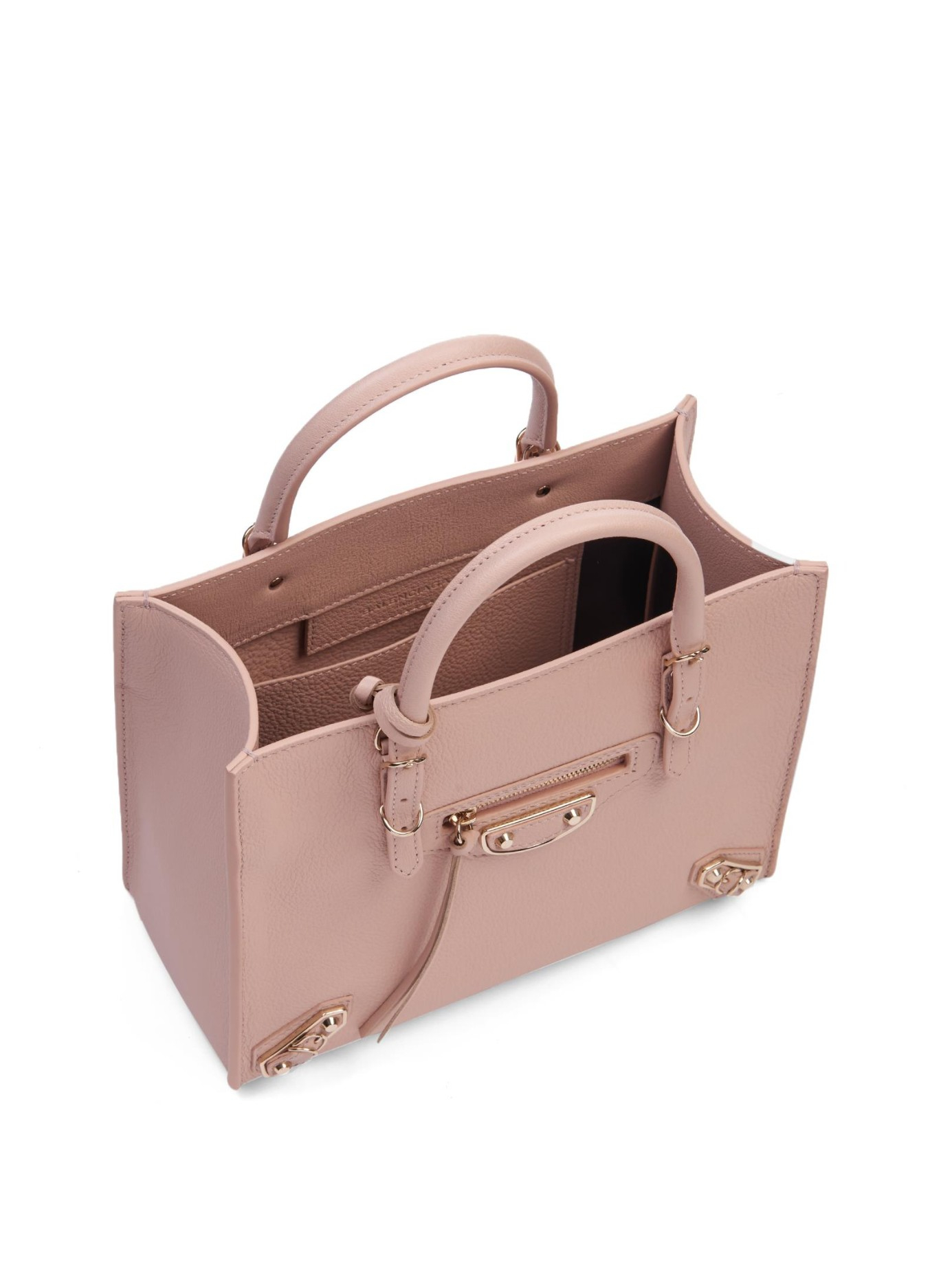 Balenciaga Mini Papier Pink Suede
