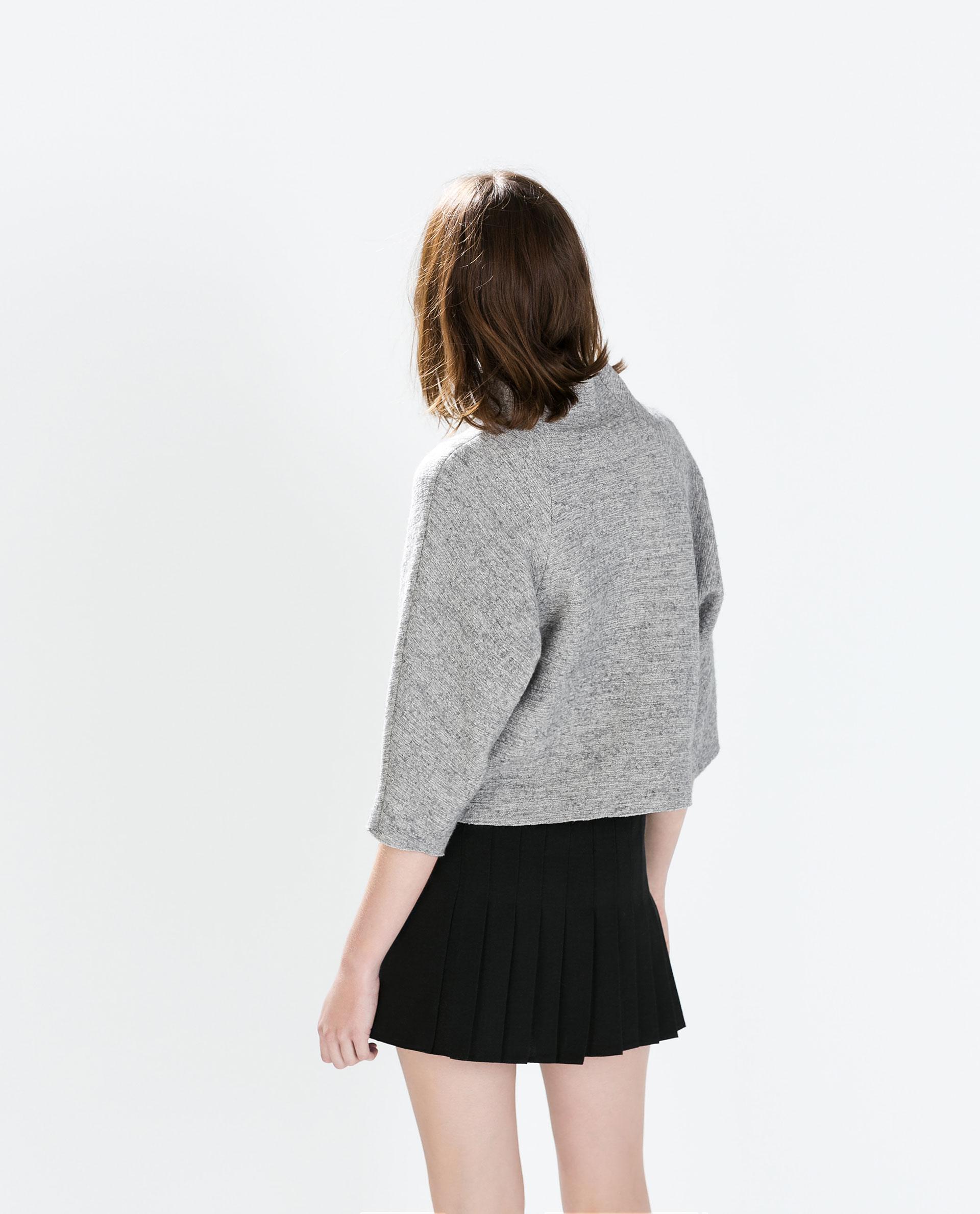 zara studio pleated mini skirt in black lyst
