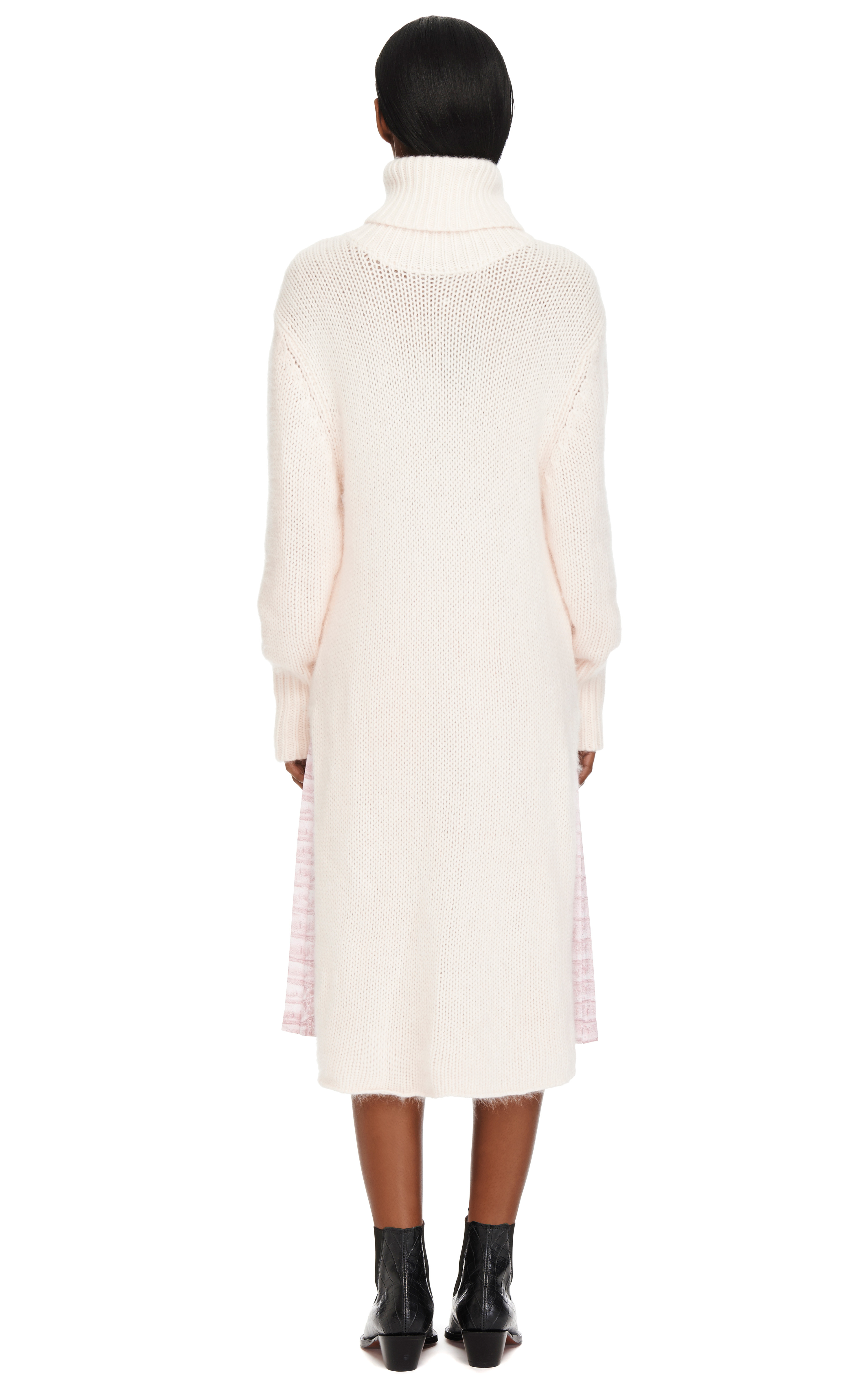 Lyst Dion Lee Angora Knit Sweater Dress In Pink